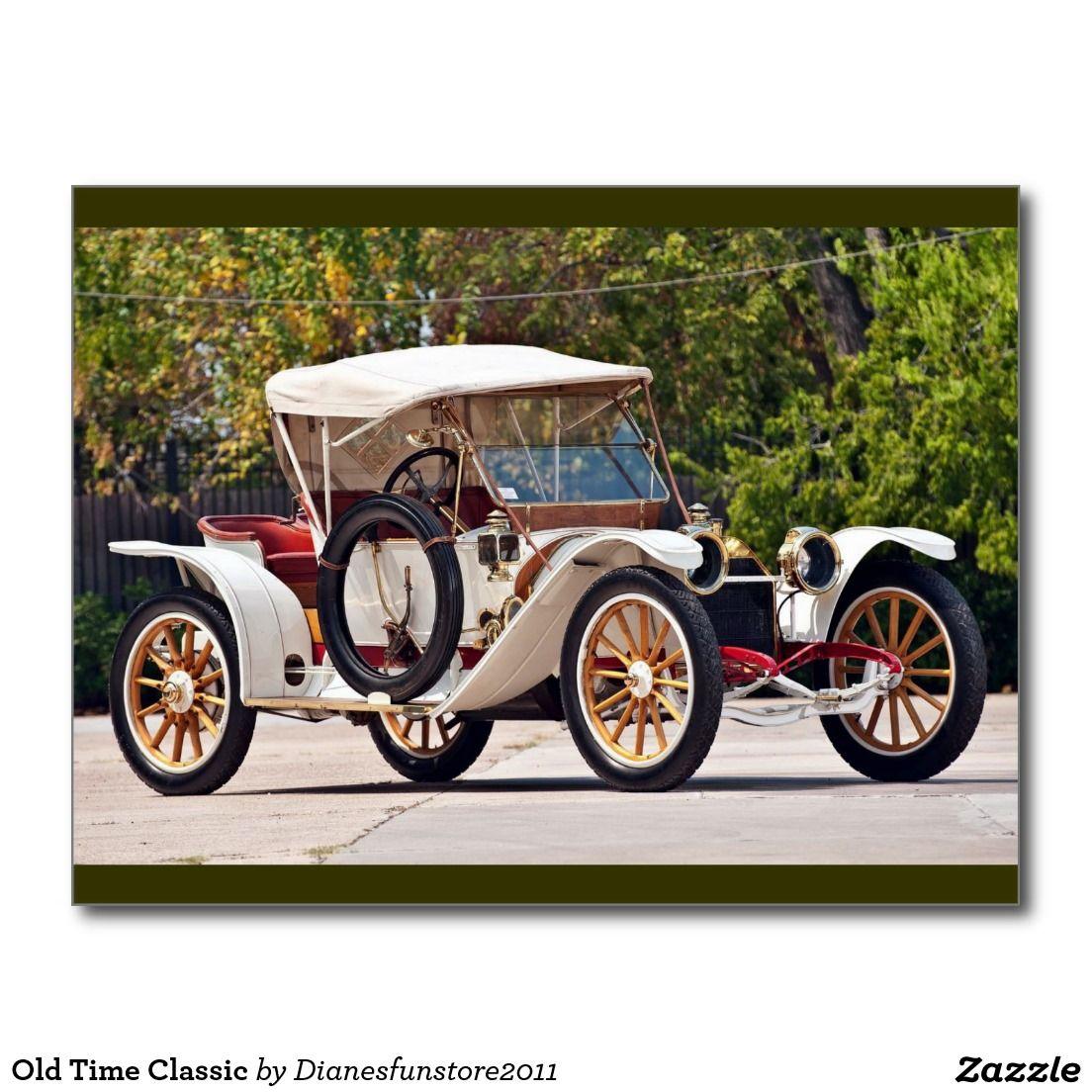 Old Time Classic Postcard Antique Cars Vintage Cars Car