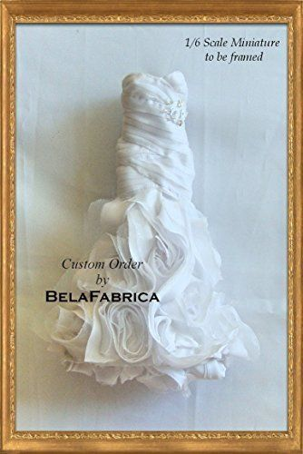 Frame your Wedding Dress Keepsake 1/6 Scale Miniature Replica. To be ...