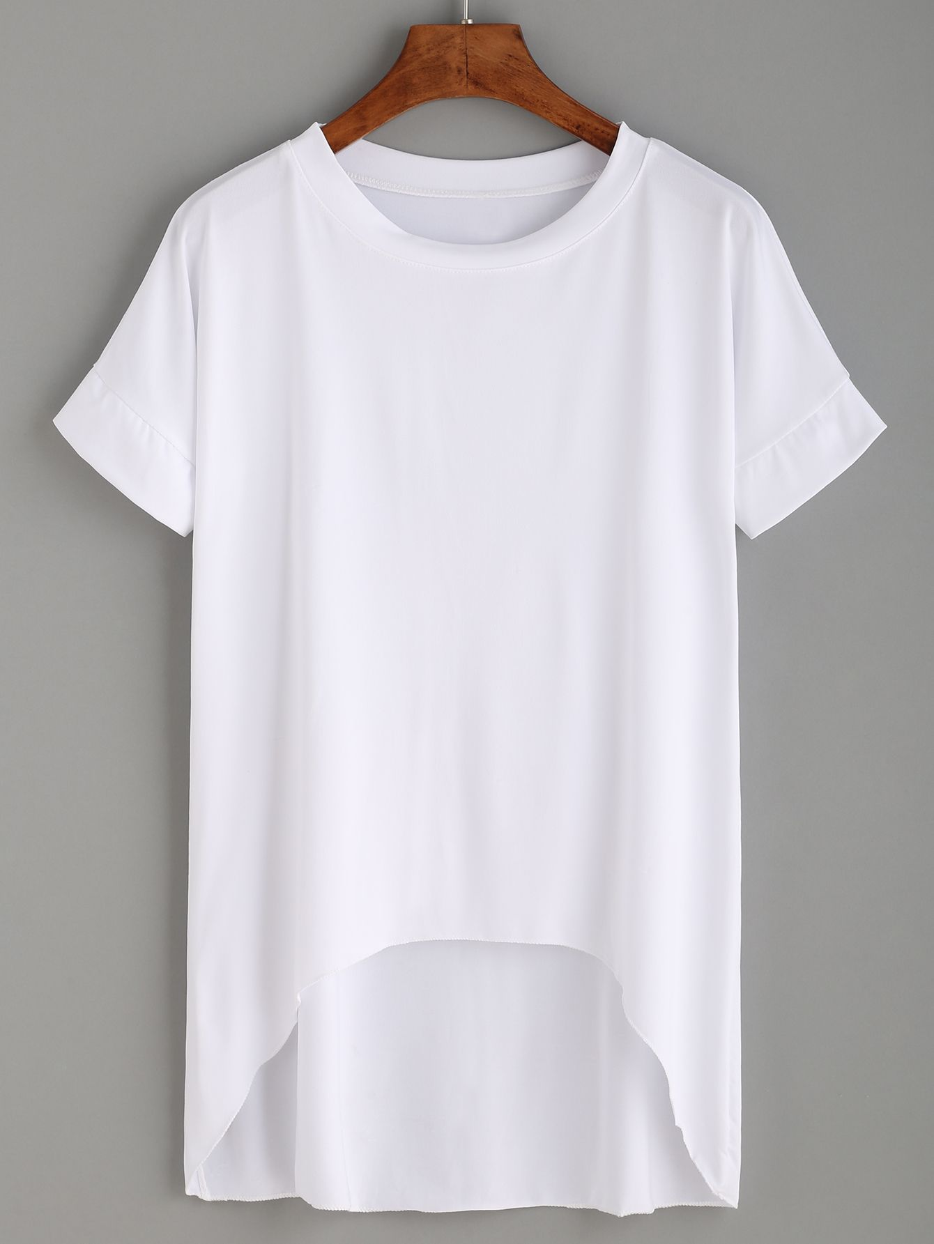 c0af8ccceb8 Shop White High Low T-shirt online. SheIn offers White High Low T-shirt    more to fit your fashionable needs.