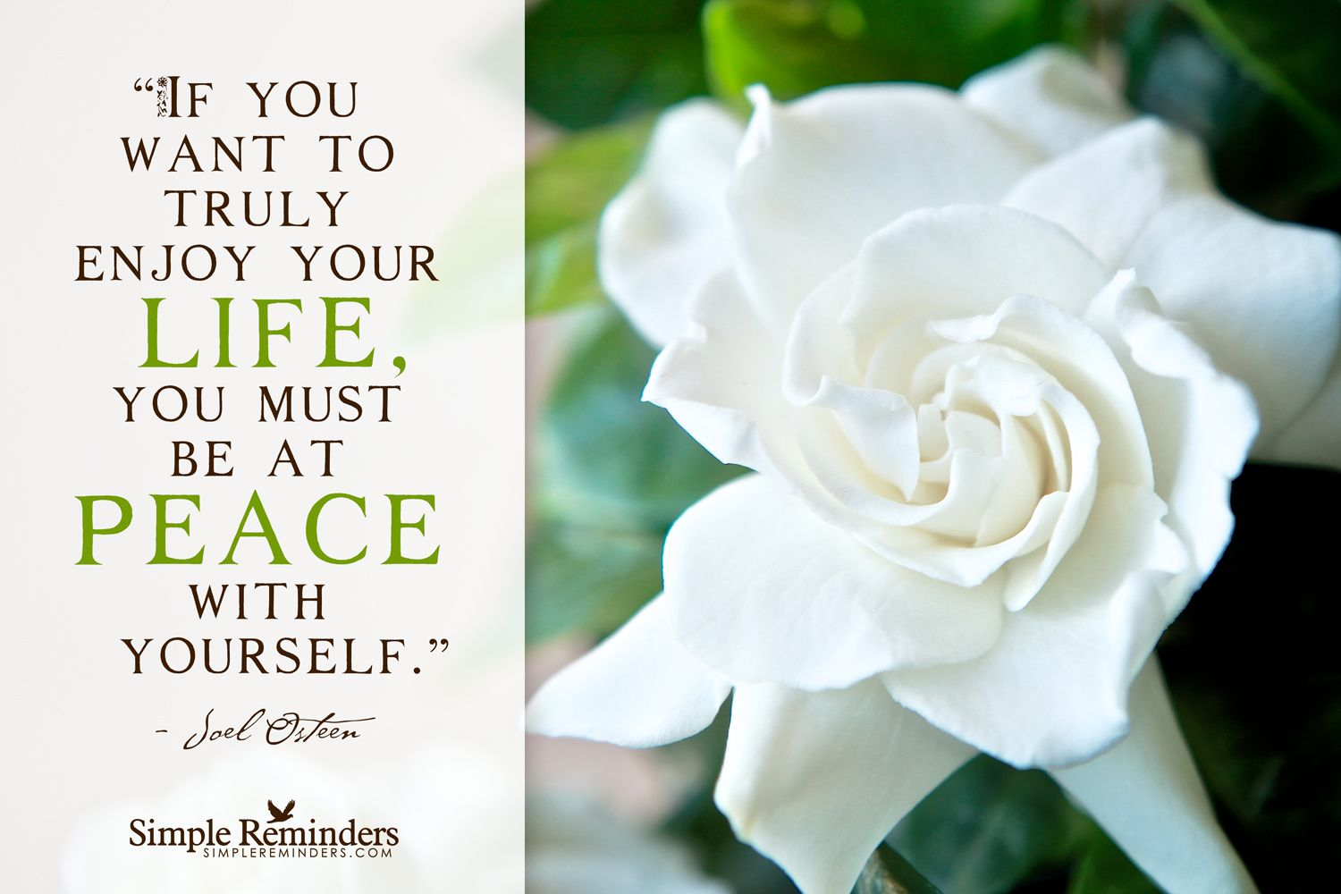Be At Peace With Yourself By Joel Osteen At Joelosteen More Quotes