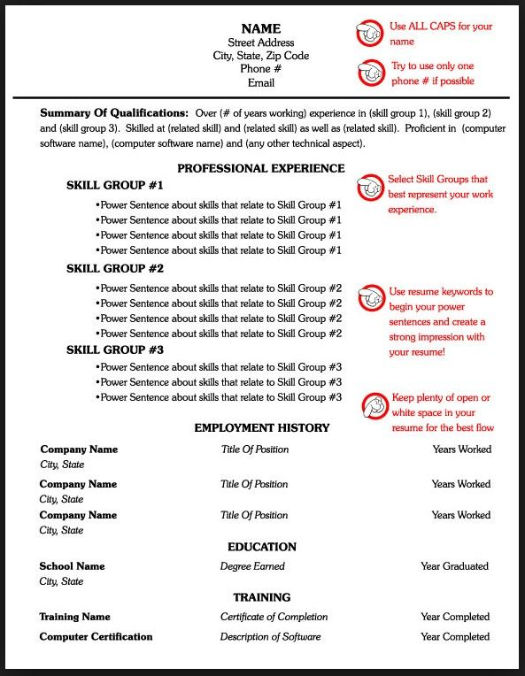 Technical Skills Section Of Resume Resume One Page