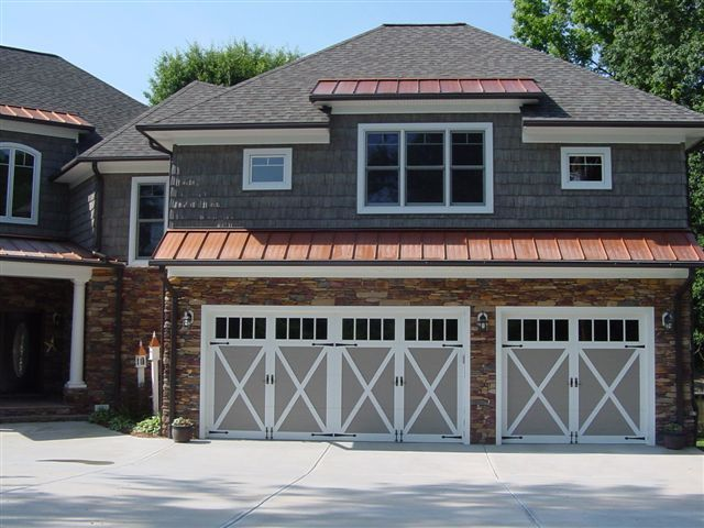 C H I 5334 Carriage House Door In Sandstone With White