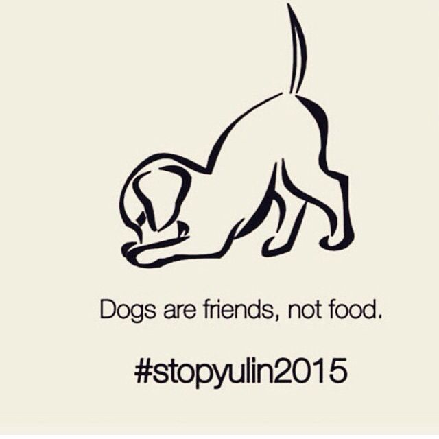 this is absolutely disturbing. over 10,000 dogs get killed every year in Southern China for the annual Yulin Festival. these pets are stolen from their families, put in small cages, dragged, beaten, tortured, boiled and skinned alive. the hashtag #stopyulin2015 is shedding light on this unspeakable horror. please help make a difference and repost and use the hashtag #stopyulin2015 I can't imagine this happening to any of my pets, those beautiful souls! I am sick to my stomach over this!