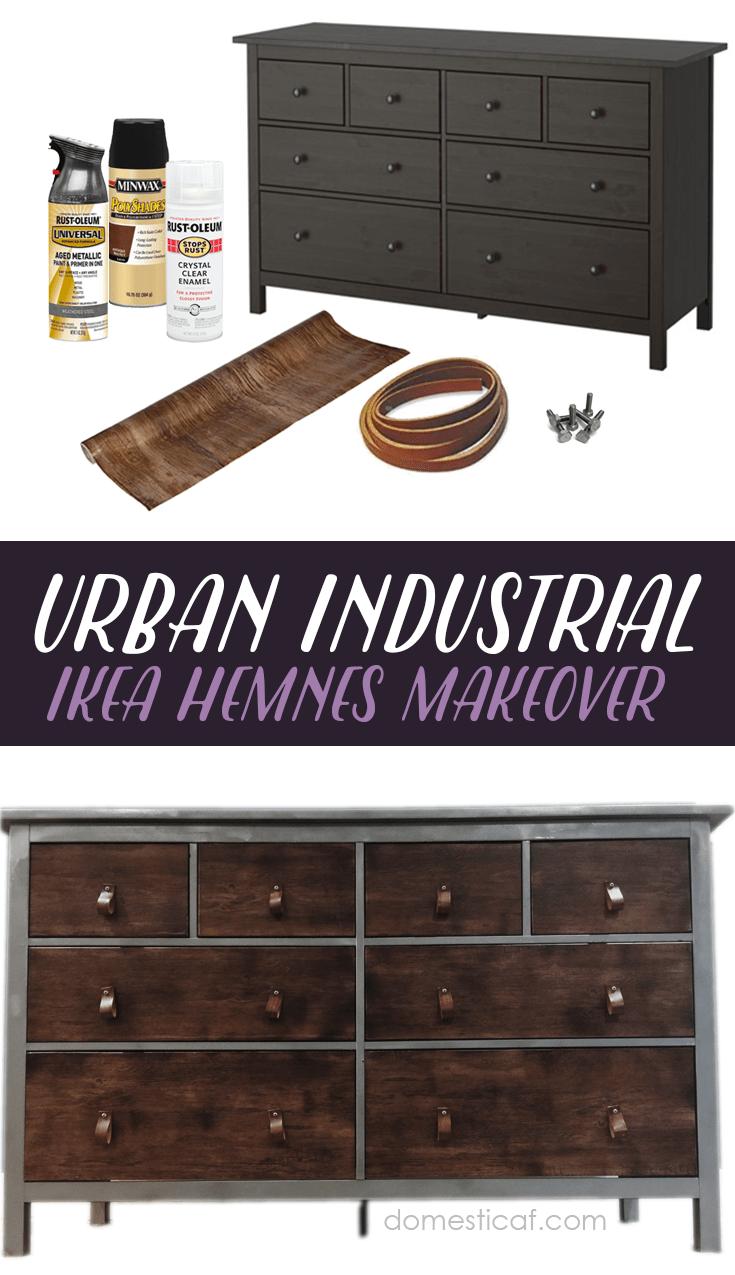 IKEA Hack Urban Industrial Dresser DIY Furniture