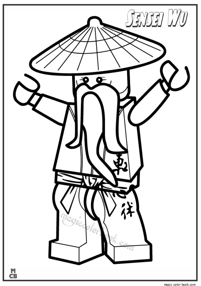 Pin by Magic Color Book on Ninjago Coloring pages free online ...