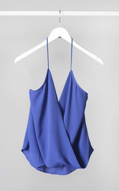 Blue Halter Top #swoonboutique