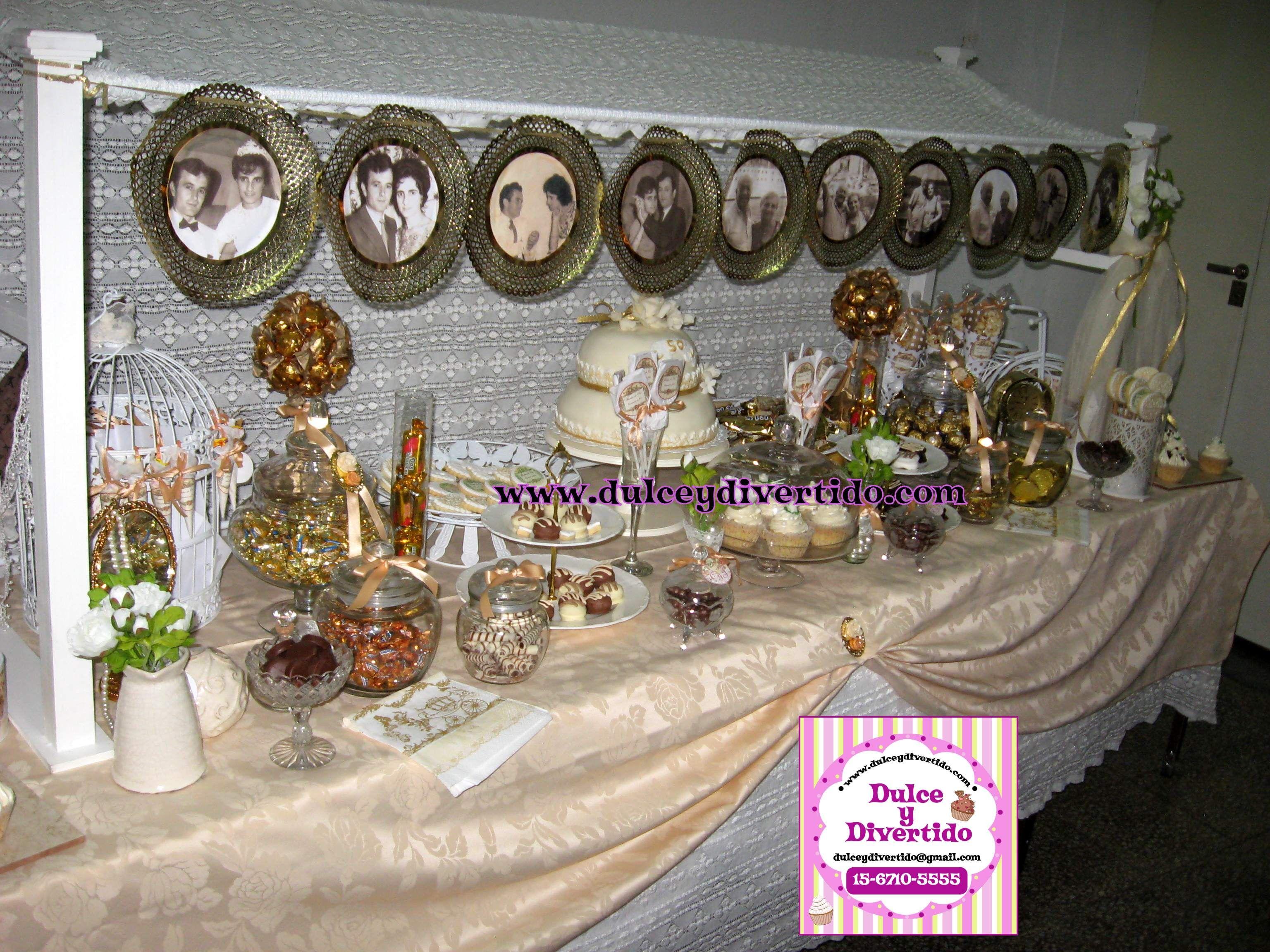 Mesa dulce bodas de oro mesa dulce bodas de oro http - Mesa de dulces para boda ...
