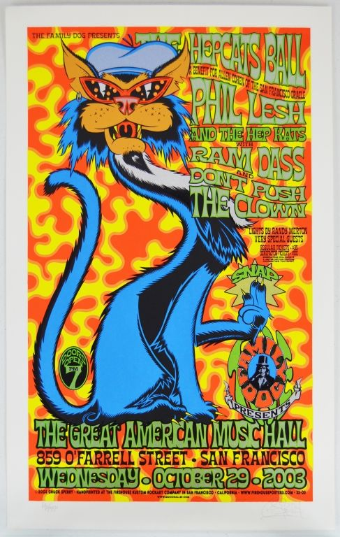 Lot Of 4 Phil Lesh Allen Cohen Benefit Concert Posters Hep Cats