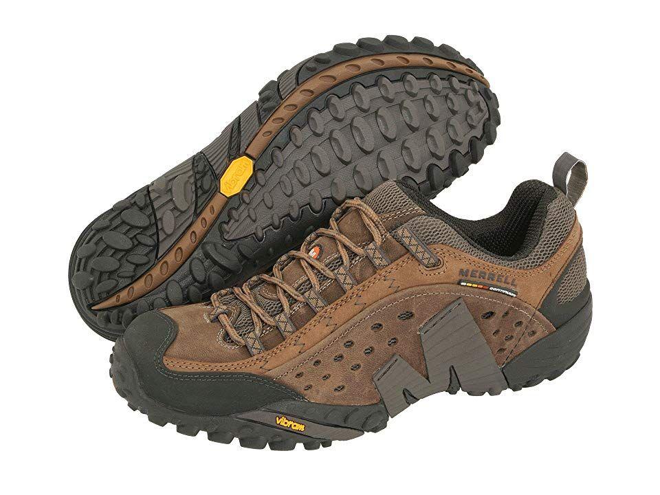 New Merrell Men's Intercept Walking Shoe Outdoor Footwear Boot Brown