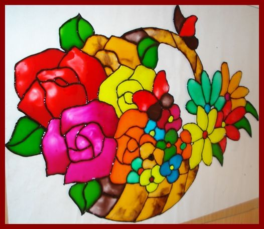 Tips for painting on glass glass painting create for Simple glass painting designs for beginners