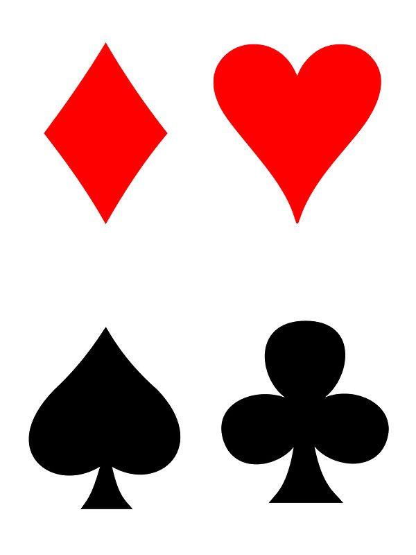 Playing Card Symbols Diamond Heart Club Spade Sticker By