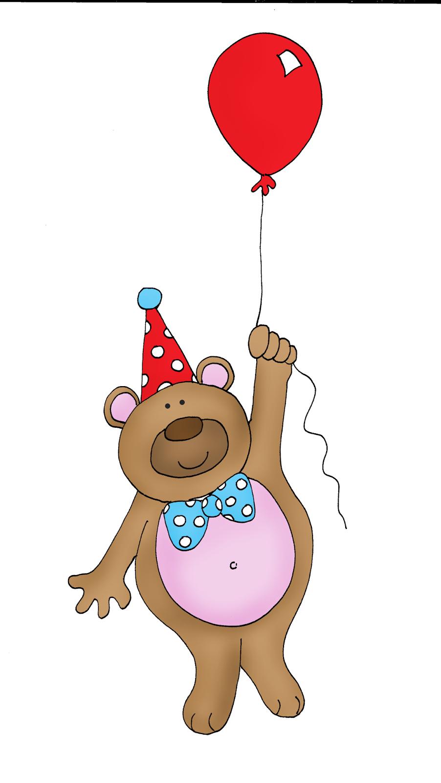 Free Dearie Dolls Digi Stamps Birthday Bear Balloon
