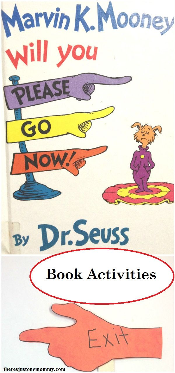 Marvin K Mooney Will You Please Go Now Activities Dr Seuss
