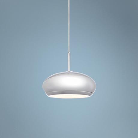 "Possini Euro Oran 4 3/4"" Wide Chrome LED Mini Pendant Light"