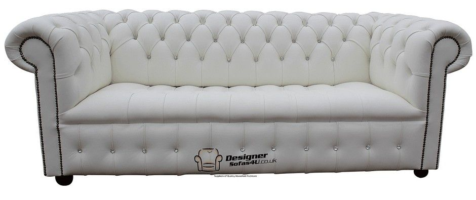 White Chesterfield Crystal Crystal Sofa Designersofas4u White Leather Sofas Sofa Offers Leather Sofa