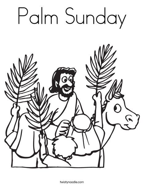 Palm Sunday Coloring Page Palm Sunday Easter Sunday School Sunday School Coloring Pages