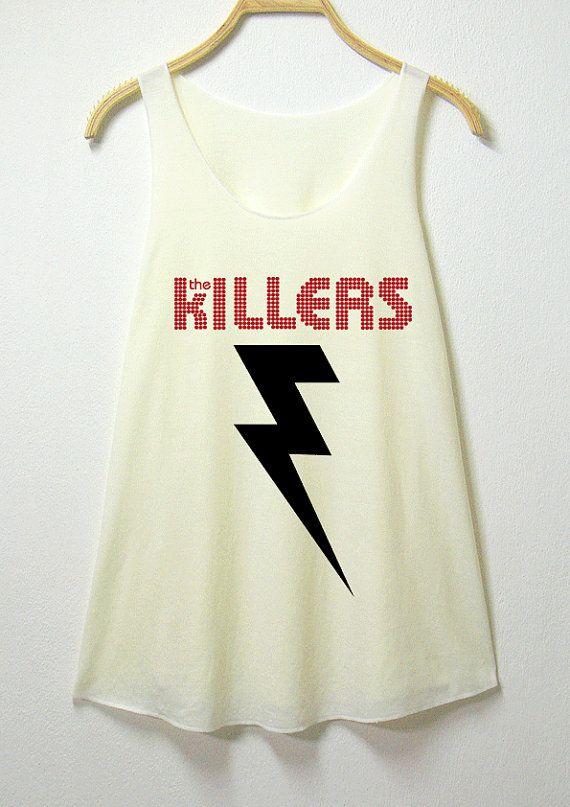 75fa2e5e28c The killers women tank top off white shirt sleeveless by MGcafe ...