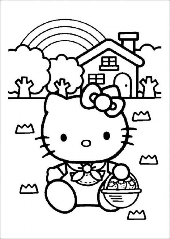 Free Printable Hello Kitty Coloring Pages Picture 15 550x770 Picture ...
