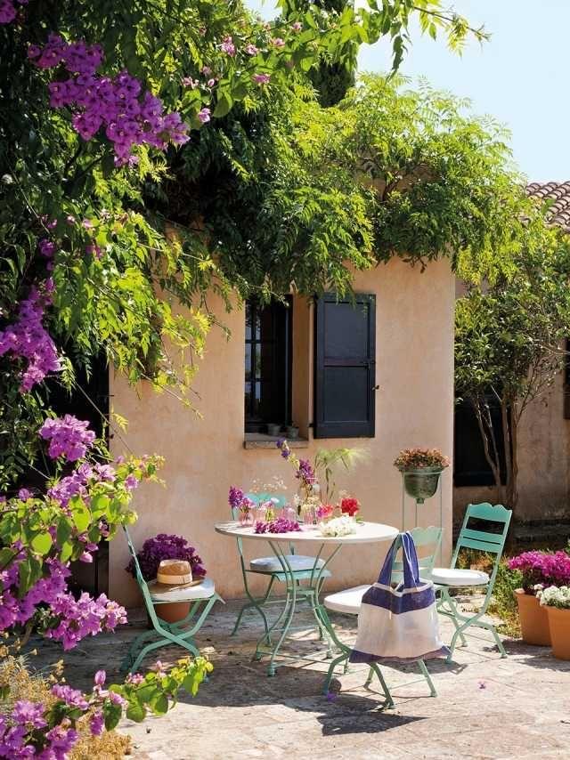 30 Beispiele Fur Terrassengestaltung Mit Toskana Flair Terassenideen Italienischer Garten Hintergarten