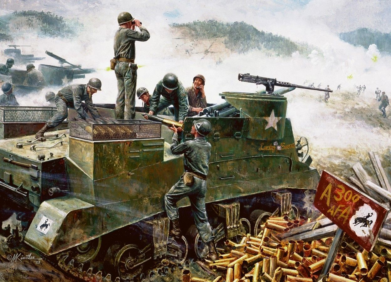 American Artillery at Soyang, Korean War