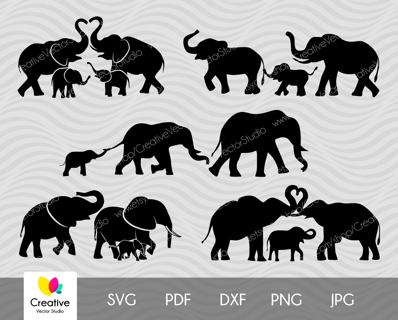 Elephant Herd - Elephant - Aufkleber | TeePublic DE