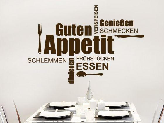 Guten Appetit Wortwolke Wortwolken, Küche esszimmer und Wandtattoo - wandtattoo küche guten appetit