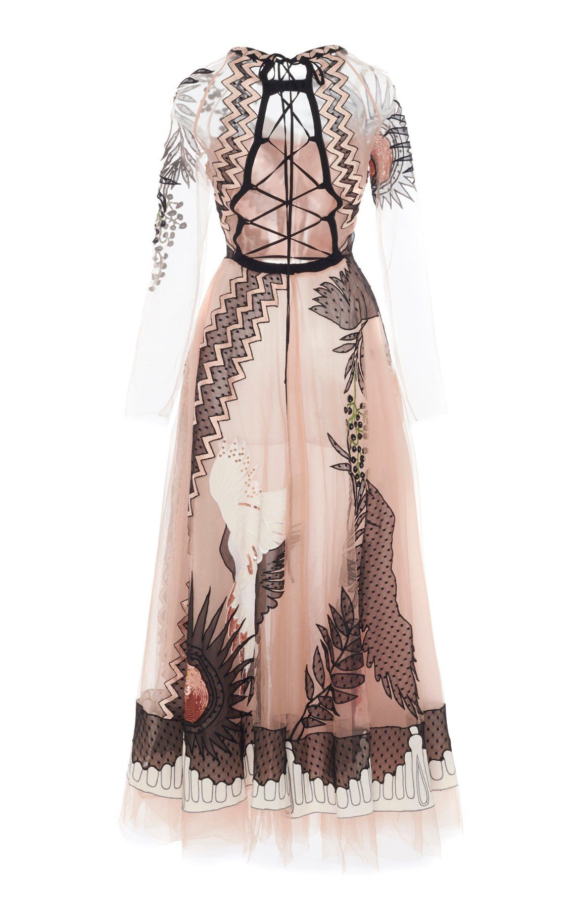 761c6acda17 Opera Sheer-Sleeve Tulle Dress by Temperley London SS19