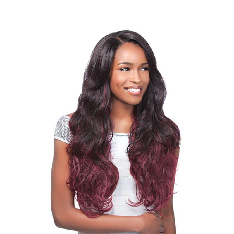 Ombre Human Hair 3 Bundles T1b99j Red Wine Two Tone Hair Weave