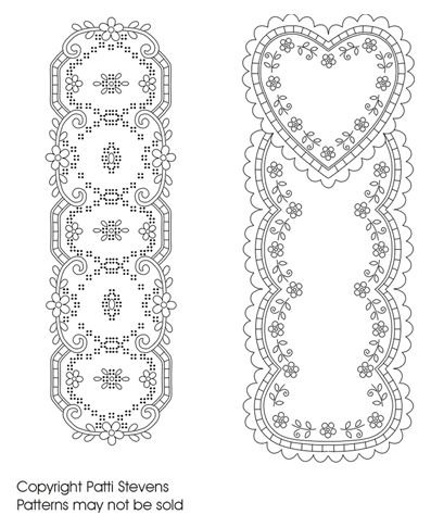 Would make lovely miniature embroidered runners. Free