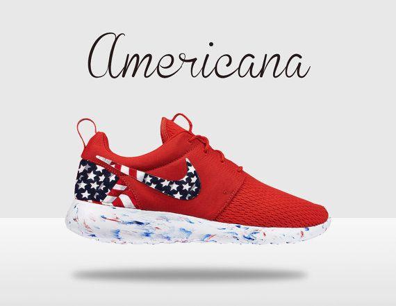 Custom Nike Roshe Roshe Run American Flag Roshe Run by MindysLab, $180.00