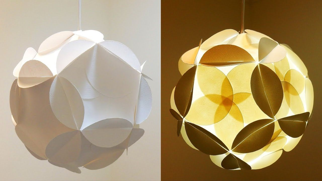 Shadow Star Lamp How To Make A Spherical Lampshade Covered With Flower Paper Lanterns Diy Lanterns Origami Lamp