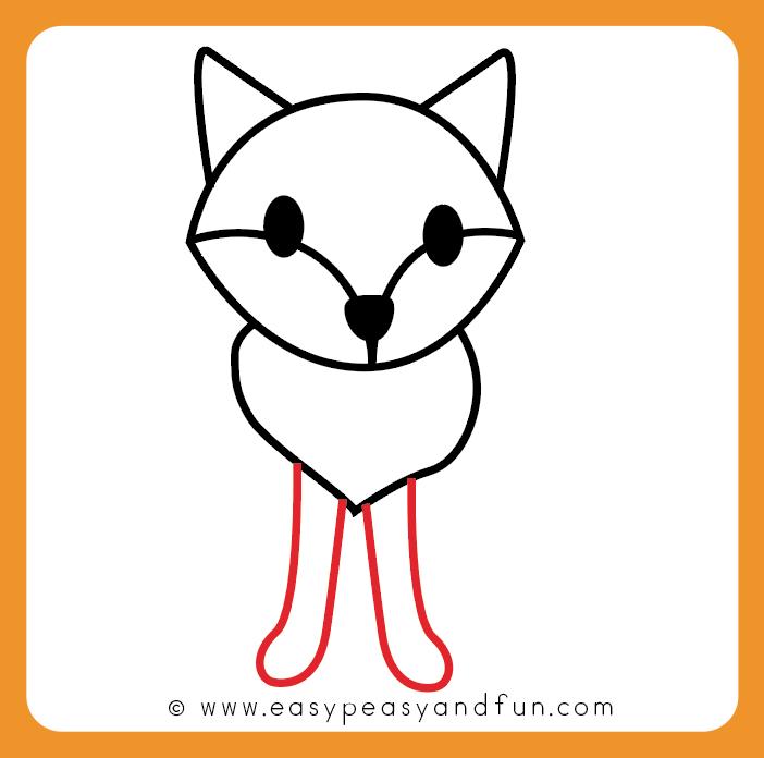 How To Draw A Fox Step By Step Fox Drawing Tutorial Fox