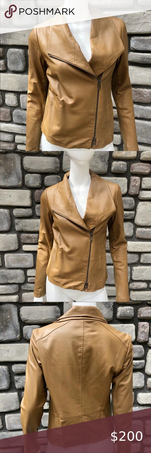 Vince Camuto Scuba Style Leather Jacket M Clothes Design Fashion Leather Jacket [ 1740 x 580 Pixel ]