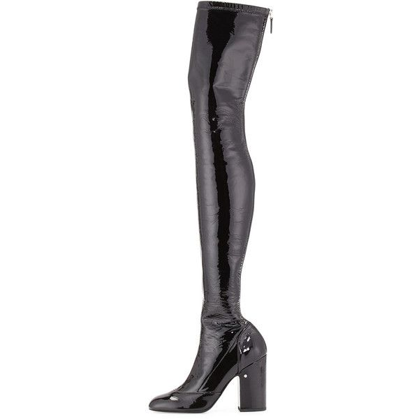 Patent Over-The-Knee Boot