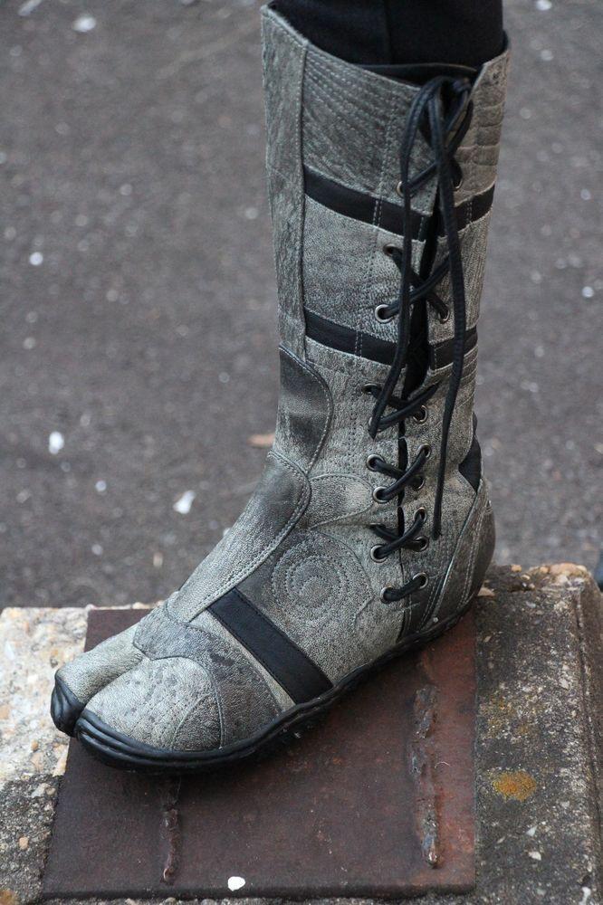 Japanese Leder Ninja Tabi Stiefel Stiefel Stiefel Spiral by Ayyawear w  Lifetime ... b46714