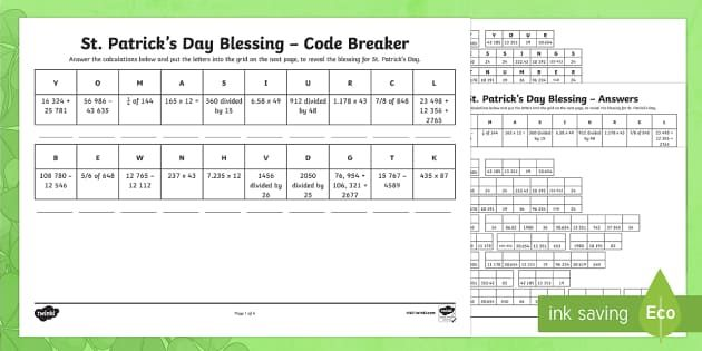 NEW * St Patricku0027s Day Code Breaker Activity Sheet St Patricku0027s - new periodic table download