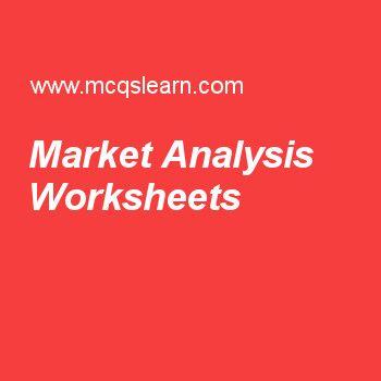 Market Analysis Worksheets Financial Management Pinterest - market analysis