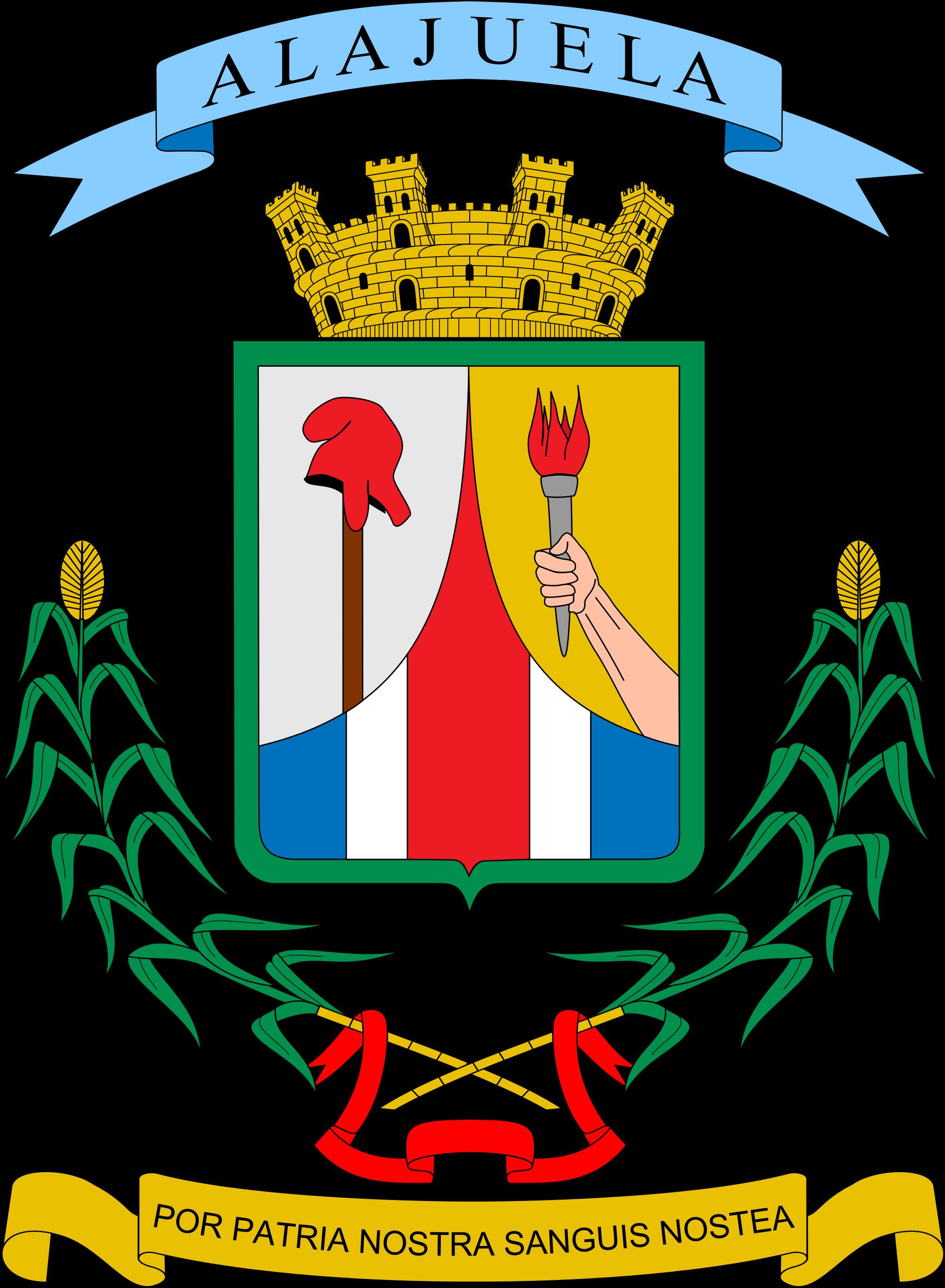 Provincia De Alajuela Coat Of Arms Alajuela Province