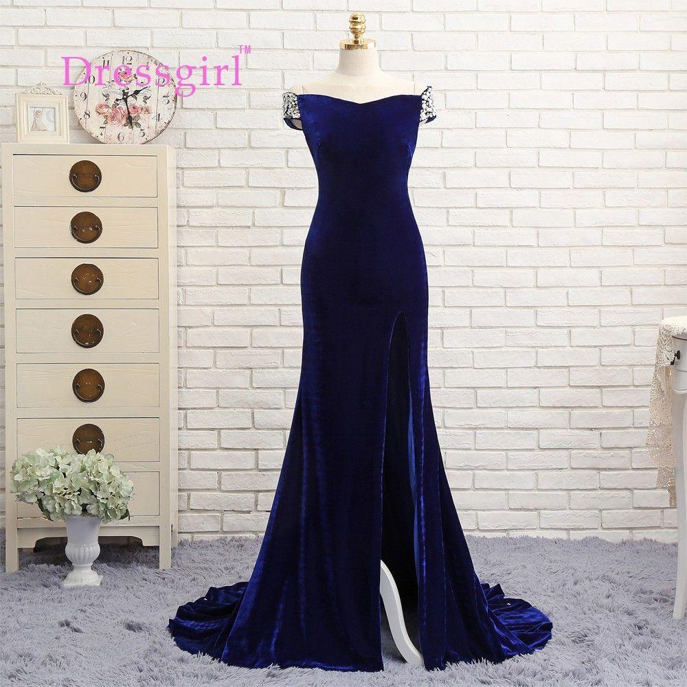 Click to buy ucuc dressgirl royal blue prom dresses mermaid v