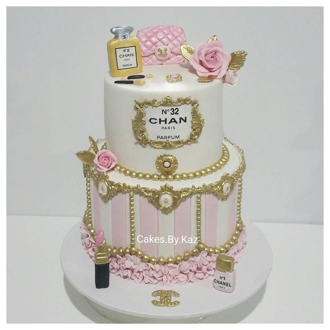 Chanel inspired birthday cake everything edible cakesbykaz
