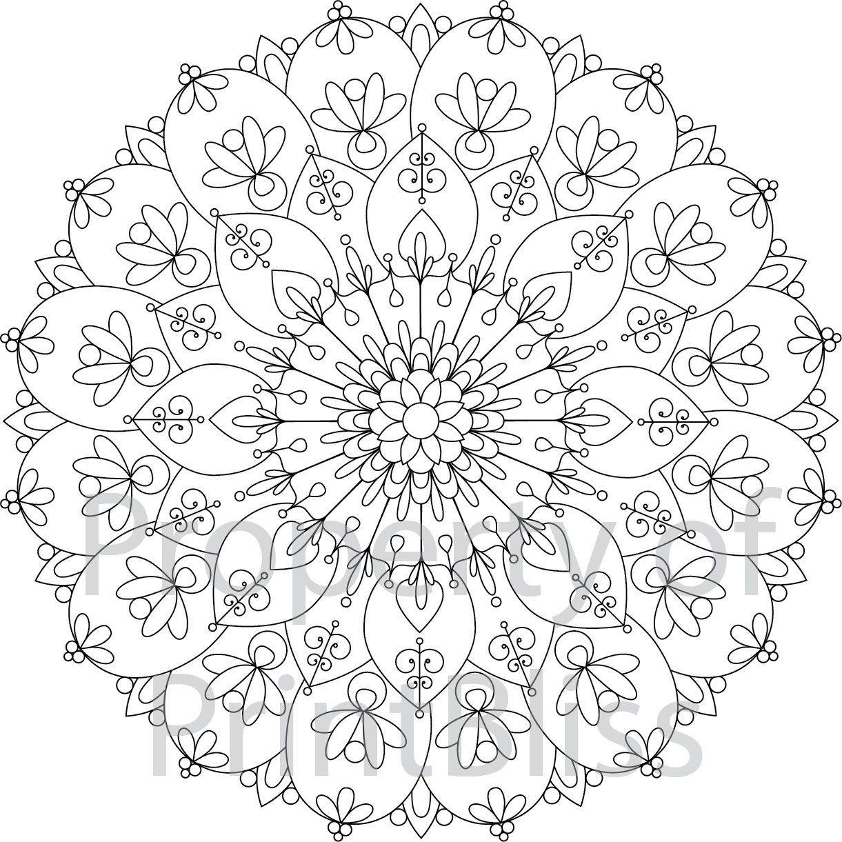 7 Flower Mandala Printable Coloring Page By Printbliss