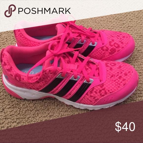 Pink leopard print run smart adidas