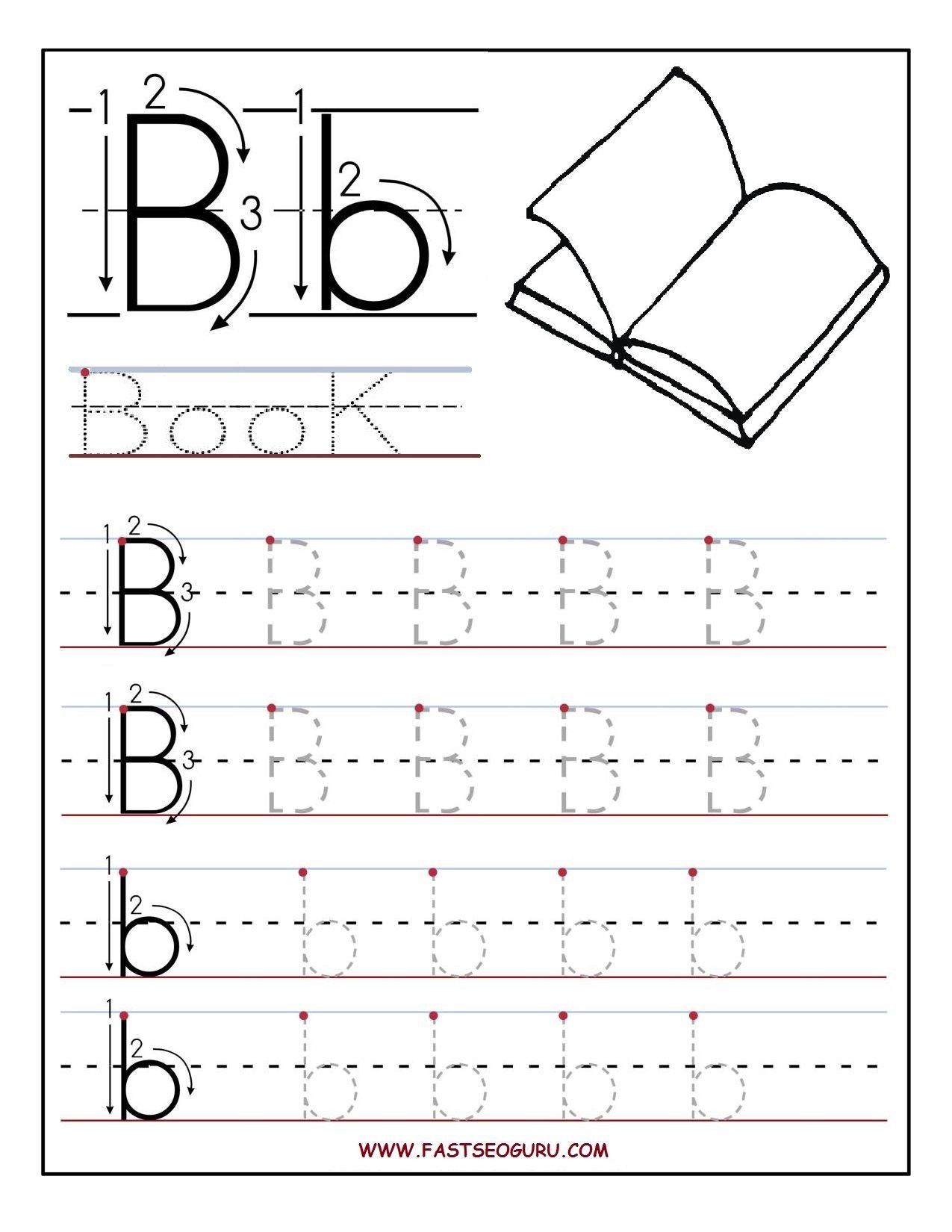 letter b worksheets for preschoolers | Printable letter B ...