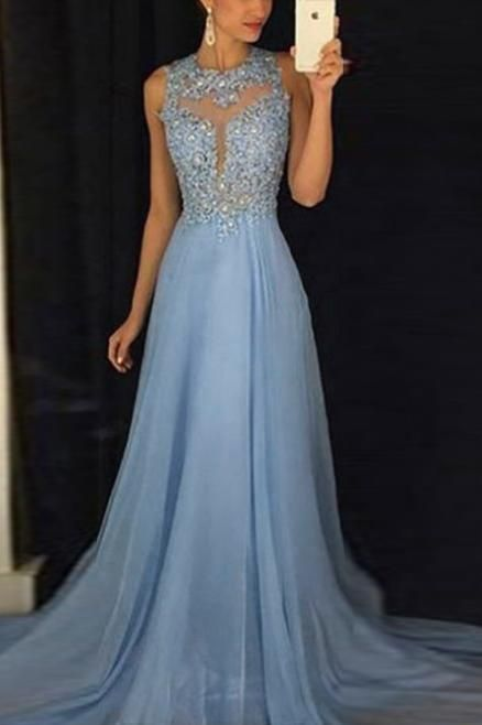 Fashion Sexy Sleeveless Temperament Evening Dress #spitzeapplique