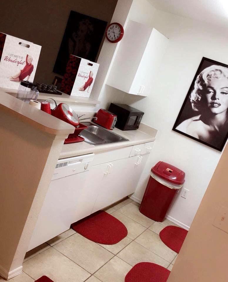 Red kitchen ideas   Red Kitchen Ideas in 2019   Diy kitchen ...