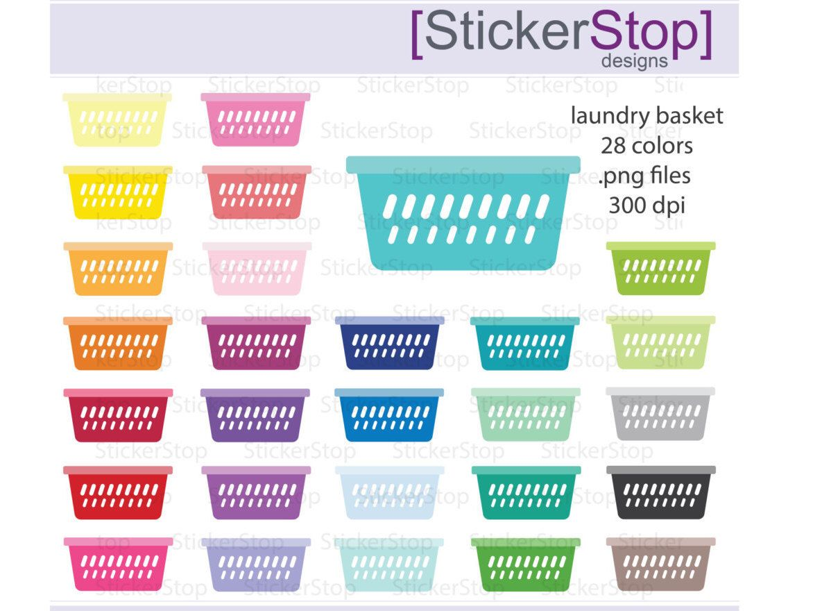 hight resolution of laundry basket clipart 28 colors png digital clipart instant download washer wash clothes cleaning by stickerstop on etsy