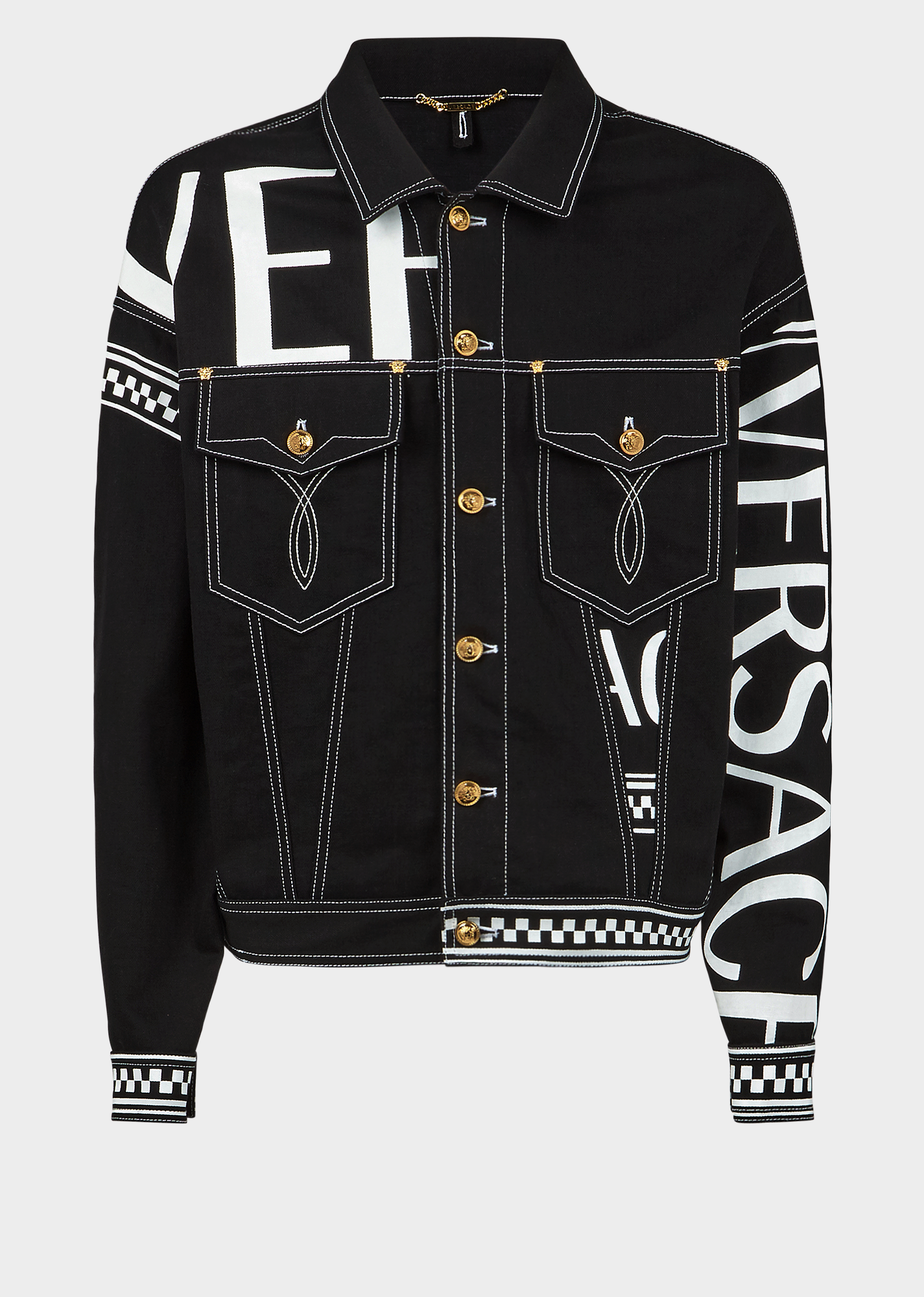 84c8d59156 VERSACE 90s Vintage Logo Denim Jacket. #versace #cloth | Versace in ...