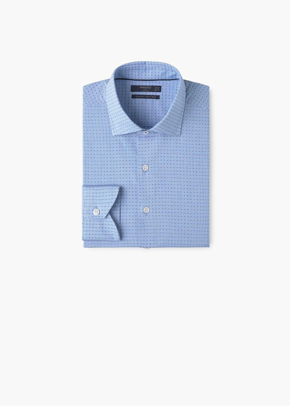 Camisa tailored slim-fit estructura   MANGO MAN