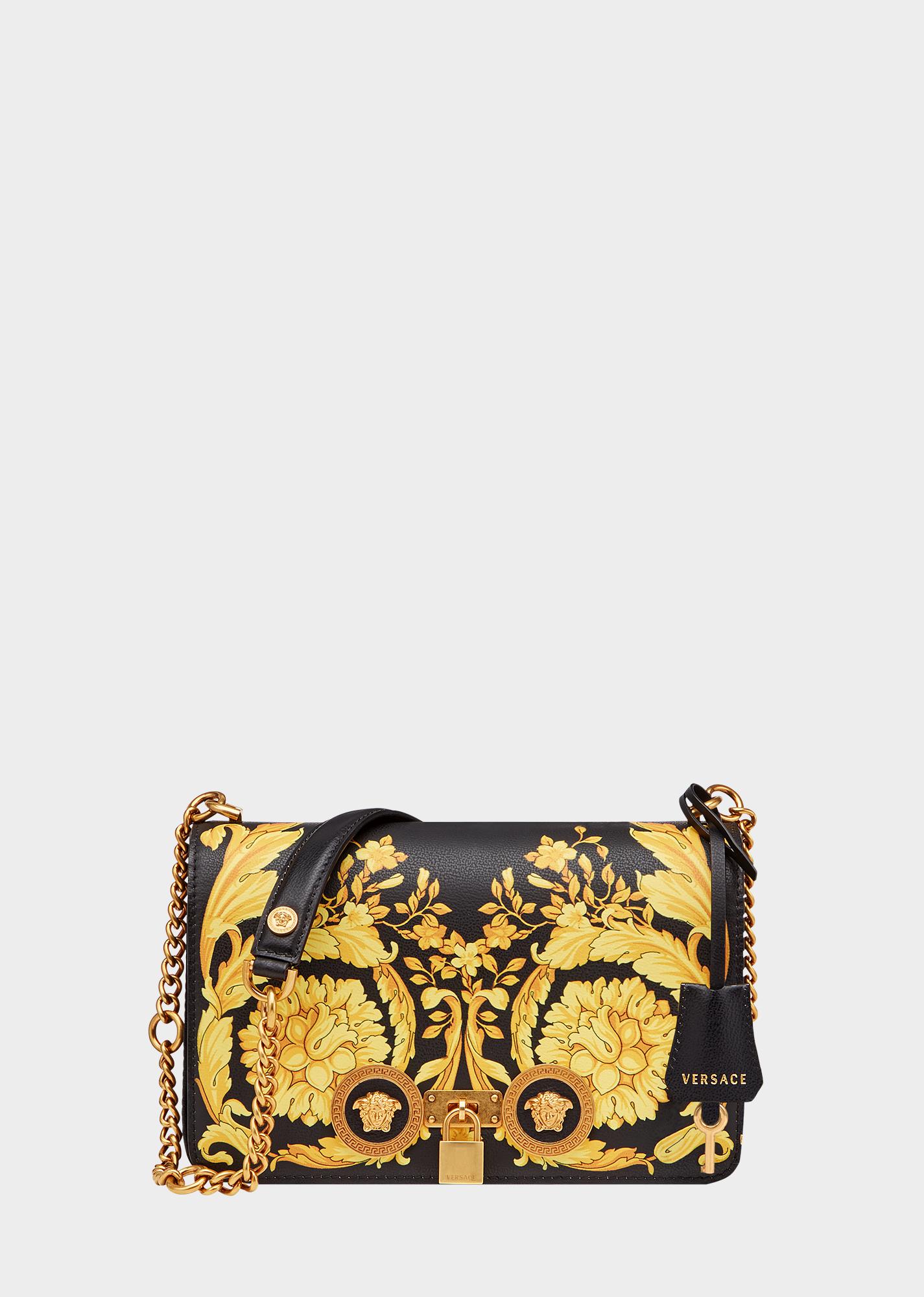 0fed9b181eb4 Barocco Icon Shoulder Bag - Black Gold Shoulder Bags
