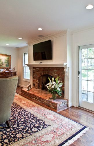 Raised Ranch Living Room Design: Fireplace Traditional Living Room Raised Ranch Living Room